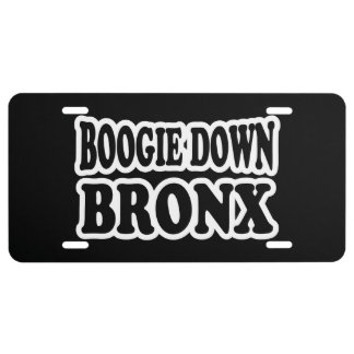 Boogie Down Bronx, NYC License Plate