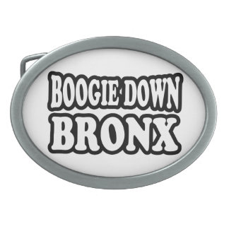 Boogie Down Bronx, NYC Oval Belt Buckles