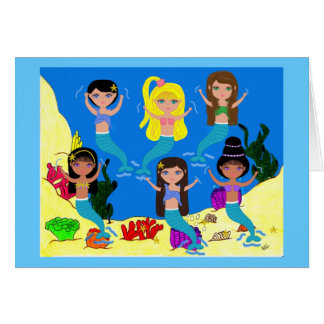 Boogie Down in Mermaid Town Greeting Card