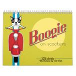 Boogie en *reprinted* del calendario de las vespas