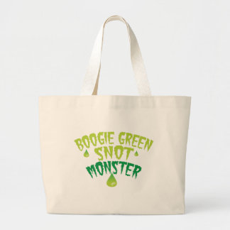 Boogie green snot monster (funny Halloween) Large Tote Bag
