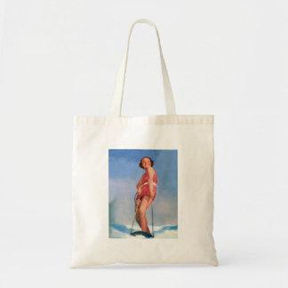 Boogie retra del esquí acuático de las mujeres del bolsa tela barata