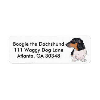 Boogie the Dachshund Address Labels