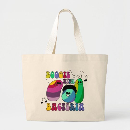 Boogie with Bacteria Large Tote Bag