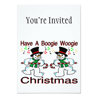 Boogie Woogie Christmas Snowmen Card