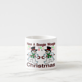 Boogie Woogie Christmas Snowmen Espresso Cup