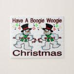 Boogie Woogie Christmas Snowmen Jigsaw Puzzle