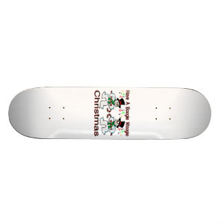 Boogie Woogie Christmas Snowmen Skateboard Deck