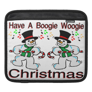 Boogie Woogie Christmas Snowmen Sleeve For iPads