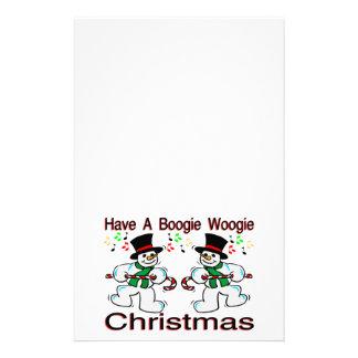 Boogie Woogie Christmas Snowmen Stationery