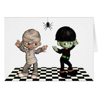 ¡Boogie-woogie de Halloween! Tarjeta de Halloween