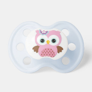 BooginHead® Custom Pacifier With Pink Owl Picture