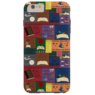 Book Addict Collage Tough iPhone 6 Plus Case
