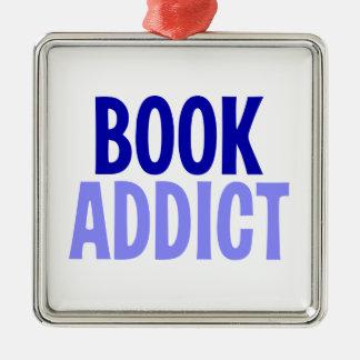 Book Addict Metal Ornament