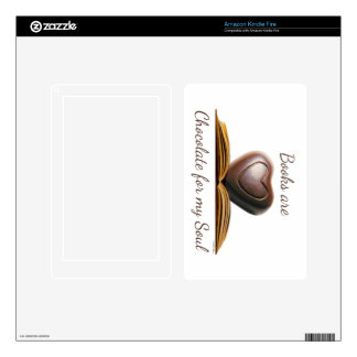 Book and Chocolate Lover's eReader Skin Kindle Fire Decal