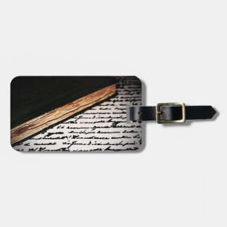 Book and Letter Luggage Tag