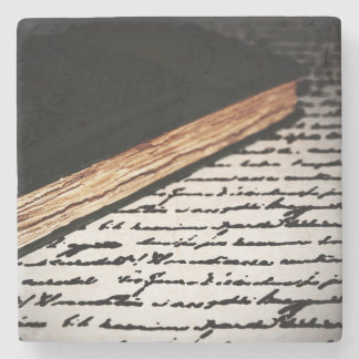 Book and Letter Stone Coaster