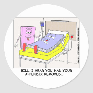 Book Appendix Coming Out Funny Gifts & Tees Classic Round Sticker