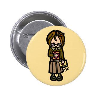 book badge. 2 inch round button
