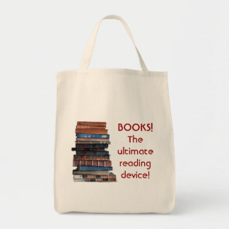 Book Bag-Stack of old books/reading device
