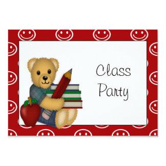 Book Bear Classroom Party Invitation