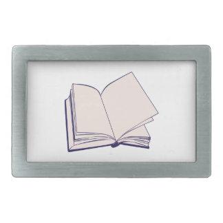 Book Rectangular Belt Buckle