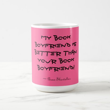 Book boyfriend coffee mug