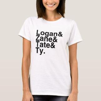 Book Boyfriend- Logan, Zane, Tate, Ty T-Shirt