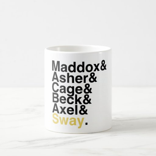 Book Boyfriends — Maddox Asher Cage Beck Axel Sway Coffee Mug