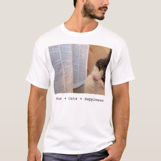 Book + Cats = Happiness Tee