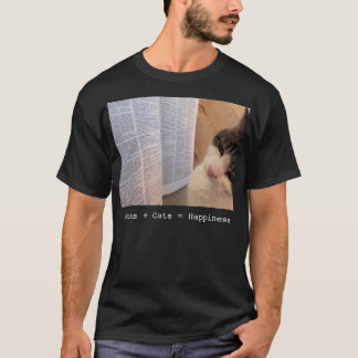 Book + Cats = Happiness Tee (Deluxe)