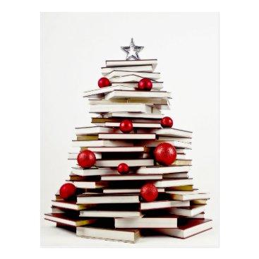 Christmas Themed Book Christmas Tree Postcard