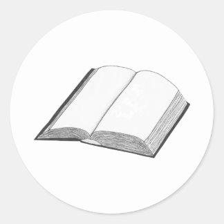 Book Classic Round Sticker