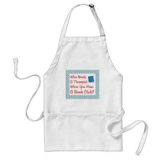 book club adult apron