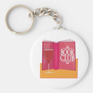Book Club Basic Round Button Keychain