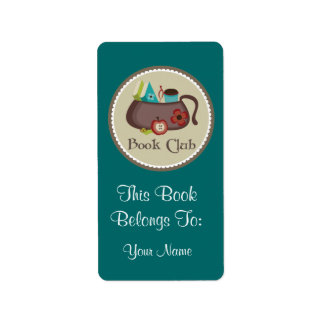 Book Club Bookplates Stickers Gift