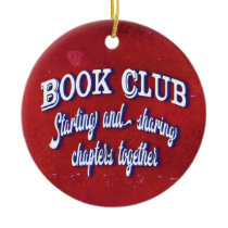 Book Club Christmas Holiday Chapters Ceramic Ornament