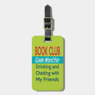 Book Club - Code Word Tag For Bags