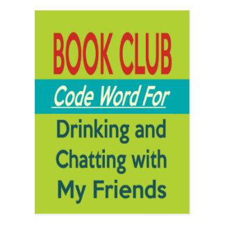 Book Club - Code Word Postcard