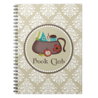 Book Club Damask Reading Notes Journal