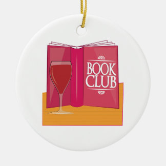 Book Club Double-Sided Ceramic Round Christmas Ornament