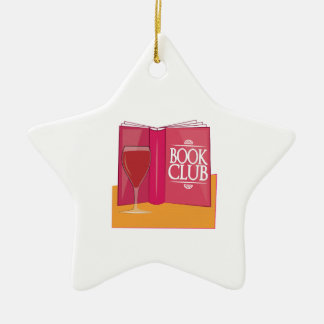Book Club Double-Sided Star Ceramic Christmas Ornament