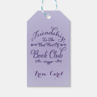 Book Club Friendship Gift Tag Pack Of Gift Tags