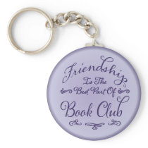 Book Club Friendship Key Holder Keychain