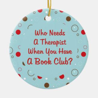 book club fun ceramic ornament