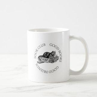 Book Club - Good Books - Good Friends With Cat Coffee Mug