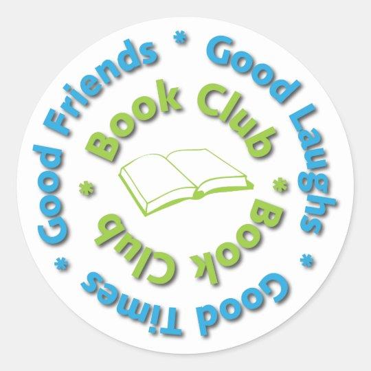 book club good friends classic round sticker