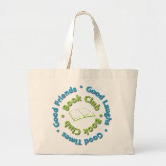 book club good friends large tote bag
