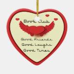 book club heart ornament
