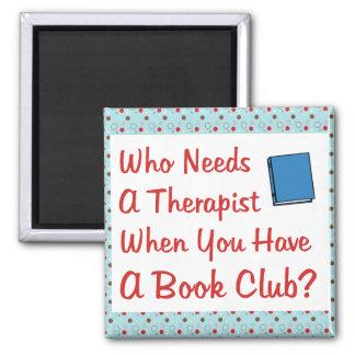 book club 2 inch square magnet